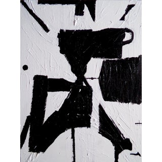 Abstract Painting Original Black and White Contemporary Art by Brian Elston For Sale