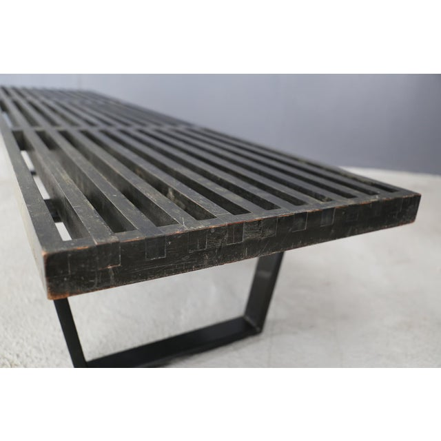 Mid-Century Modern Beautiful 50's Bench in Maple Wood by George Nelson. For Sale - Image 3 of 5