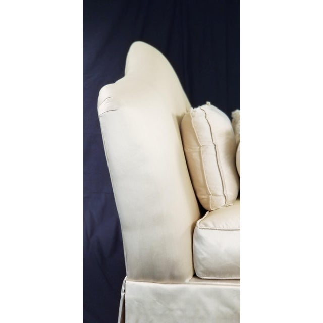 Century Furniture Modern Century Furniture Signature Upholstery Settee For Sale - Image 4 of 11