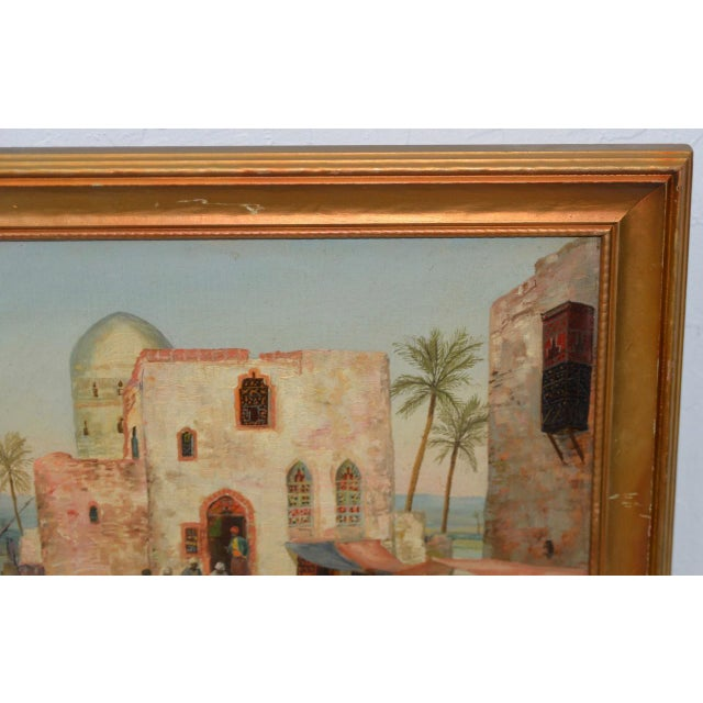 Impressionism Late 19th to Early 20th Century Middle East Oil Painting For Sale - Image 3 of 8