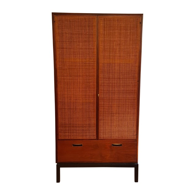 Mid-Century Knoll Attributed Caned Cabinet - Image 1 of 6