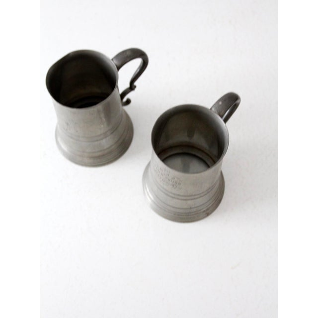 Antique Pewter Glass Bottom Tankards - a Pair For Sale - Image 10 of 13