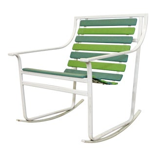 Mid-Century Modern Samsonite Outdoor Flat Tube Steel Rocking Chair For Sale