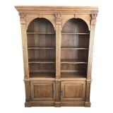 Image of Ethan Allen Legacy Double Arch Library Bookcase Cabinet For Sale