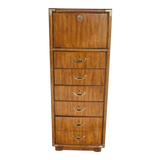 Drexel Accolade Campaign Style Lingerie Vanity Chest For Sale