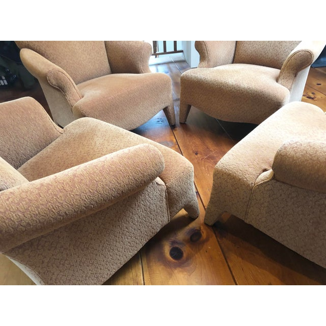 1990s Vintage John Hutton Style Club Chairs Pair For Sale In New York - Image 6 of 13