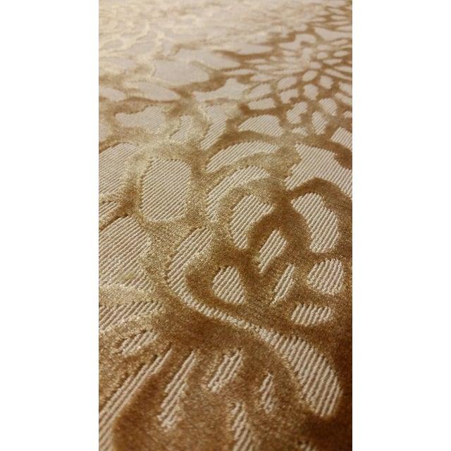 Contemporary Lee Jofa Foglia Floral Velvet in Camel - 3.875 Yards For Sale - Image 3 of 5