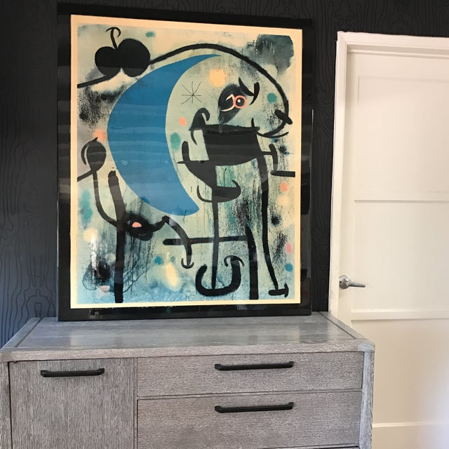 Joan Miro 1980's Lacquer Mounted Italian Poster - Image 5 of 10