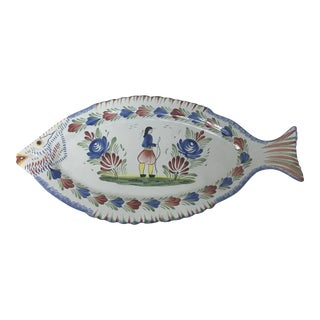 Quimper Fish Platter For Sale
