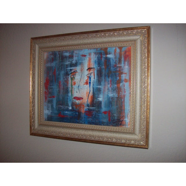 """Face"" Original Mixed Media Painting by Dawn Walling - Image 2 of 5"