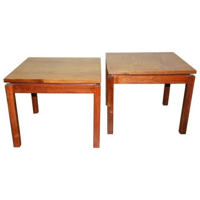 Brown 1970s Brazilian Jacaranda Wood Square Side Tables - a Pair For Sale - Image 8 of 8