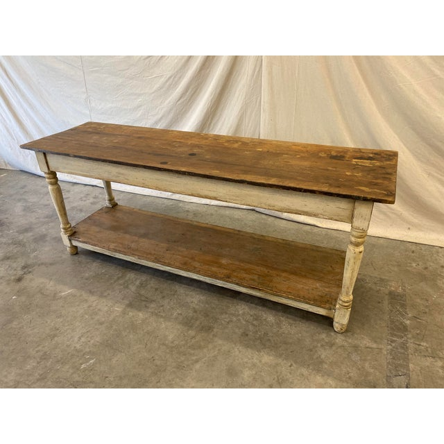 French Rustic French Farm Console Table - 19th C For Sale - Image 3 of 12