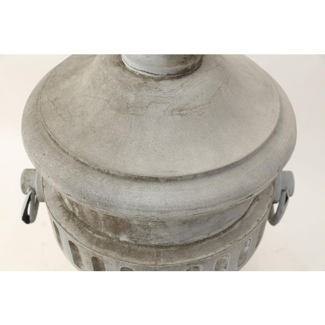 Mid 19th Century Monumental Urn-Shape Zinc Finial For Sale - Image 5 of 9