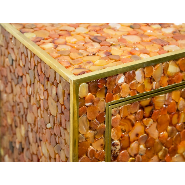 KAM TIN Kam Tin - Cabinet Covered With Agate Gemstone, France, 2012 For Sale - Image 4 of 6