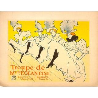 Troupe De Mlle Eglantine, Can Can Dancers, Toulouse-Lautrec, Chromolithograph, 1951 For Sale