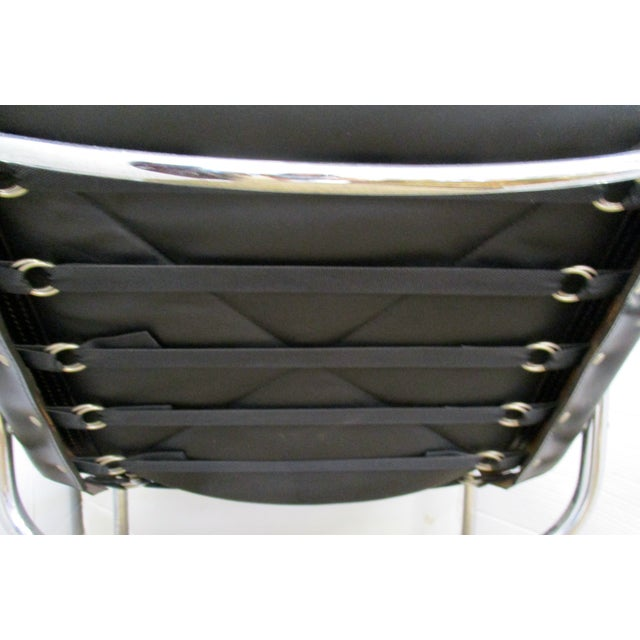 Black and Chrome Mid-Century Chair - Image 6 of 6