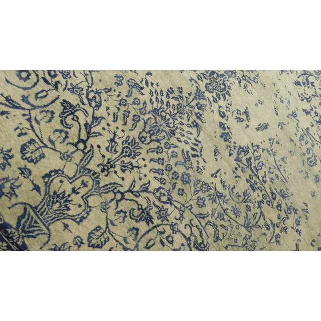 "Erased Hand-Knotted Luxury Rug - 8'11"" x 11'11"" For Sale - Image 4 of 7"