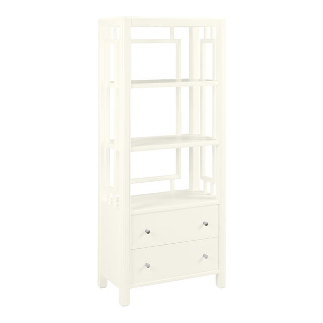Devon Bookcase, Cloud White For Sale