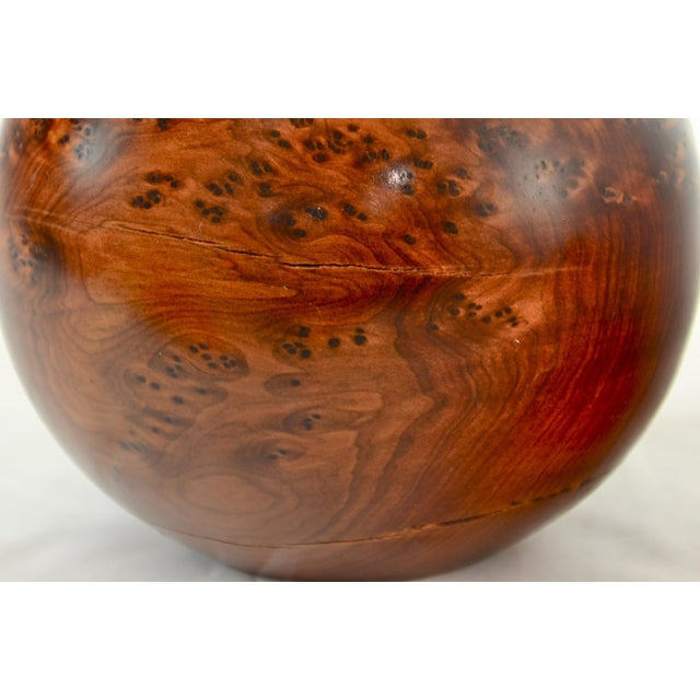 Bird's Eye Maple Sphere Candle Holder For Sale In Chicago - Image 6 of 8