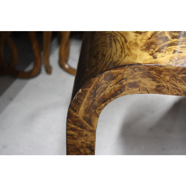 Faux Tortoise Waterfall Console Table in the Style of Karl Springer For Sale - Image 12 of 12