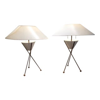 1955 Mathieu Mategot Mid-Century Table Lamps, France - a Pair For Sale