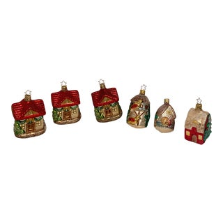 Inge Glass Ornaments - Set of 6 For Sale