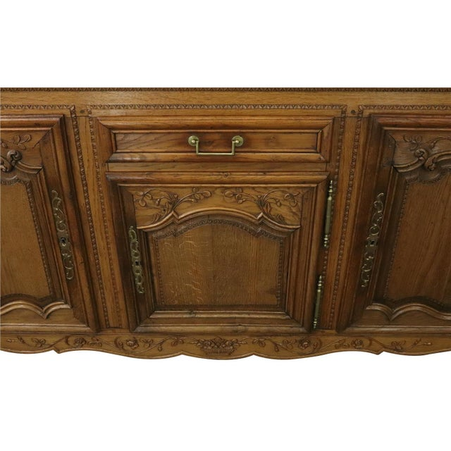 Late 19th Century Sideboard Normandy Antique French 1890 Carved For Sale - Image 5 of 11