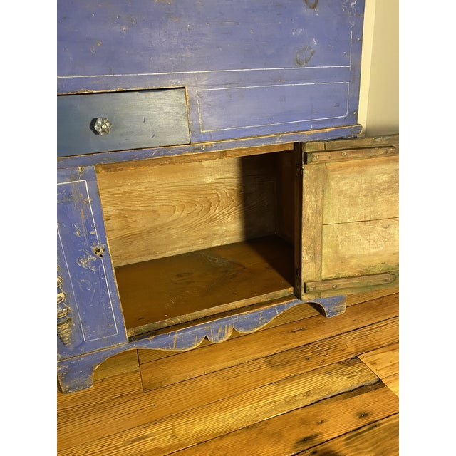 Wood Antique Swedish Commode or Chest With Original Paint For Sale - Image 7 of 13