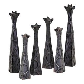 Safari Erdos + Ko Home Aluminum Giraffe Figurines - Set of 6