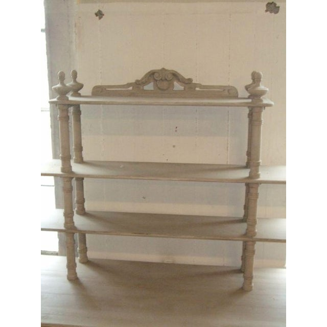 2000s Grey Painted French Shelving Unit For Sale - Image 5 of 8