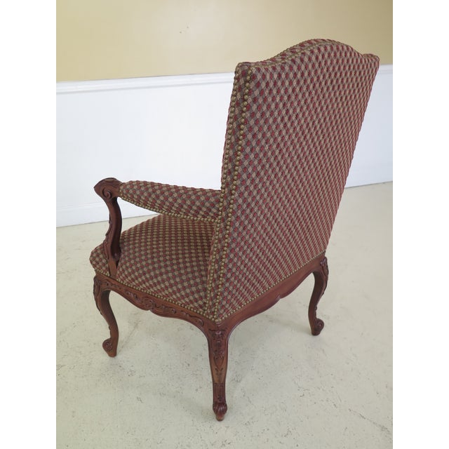 Sherrill French Louis XV Style Upholstered Arm Chair For Sale - Image 10 of 13