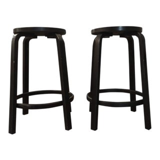 Mid Century Alvar Aalto Bar Stools- a Pair For Sale