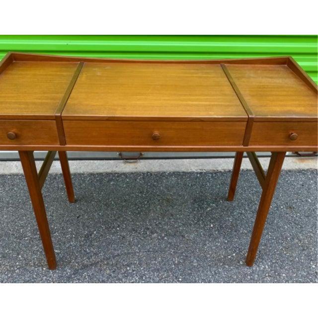 Mid-Century Modern Danish Mid-Century Modern Teak Vanity Dressing Table For Sale - Image 3 of 8