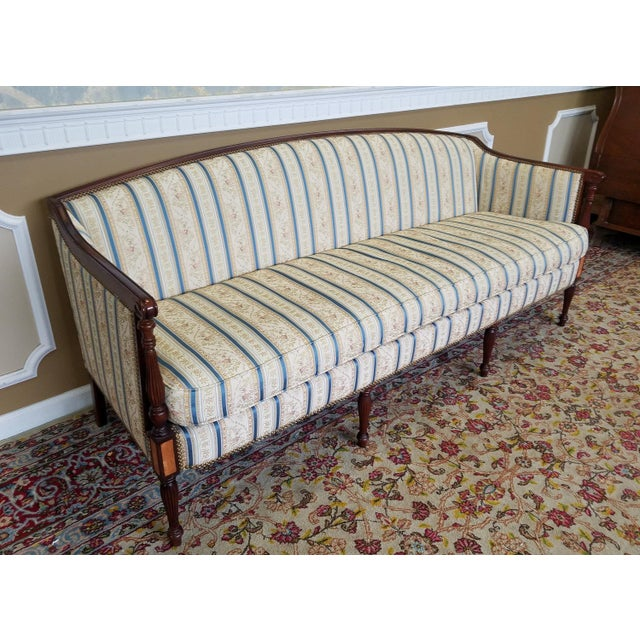 Fantastic Hickory Chair Company James River Collection Sheraton Mahogany Sofa For Sale - Image 5 of 10