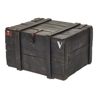 Painted Chest From Belgium Army For Sale