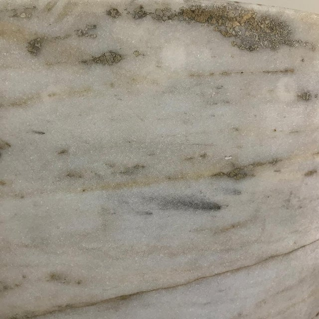 Pair Antique Solid Marble Half-Columns ~ Pedestals For Sale - Image 11 of 13