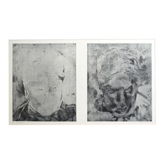 """Portrait in Progress"" Original Print by Jacklyn Friedman"