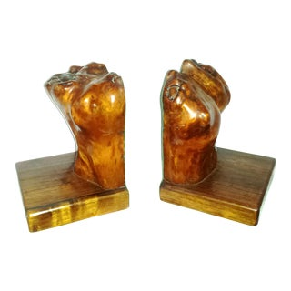 Organic Burl Wood Bookends - Human Torso Abstract - a Pair