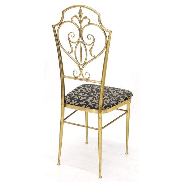 Set of 4 Italian Mid-Century Modern Chiavari Brass Chairs For Sale - Image 9 of 12