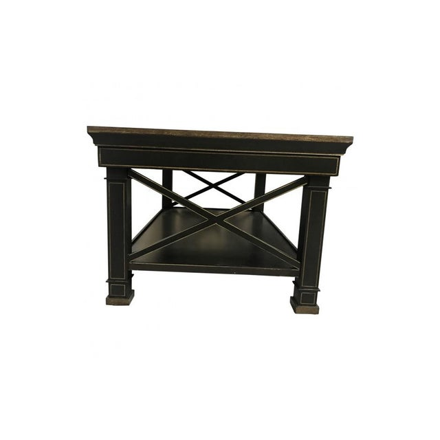 With cross supports and square feet, this coffee table will provide an immediate stable and sturdy presence to the living...