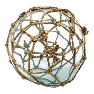 Large Netted Blown Glass Fishing Float