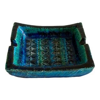 Bitossi Rimini Blue Ashtray Platter Catchall Aldo Londi Raymor For Sale