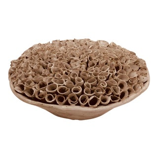 Organic Modern Ceramic Art Small Sculpture For Sale