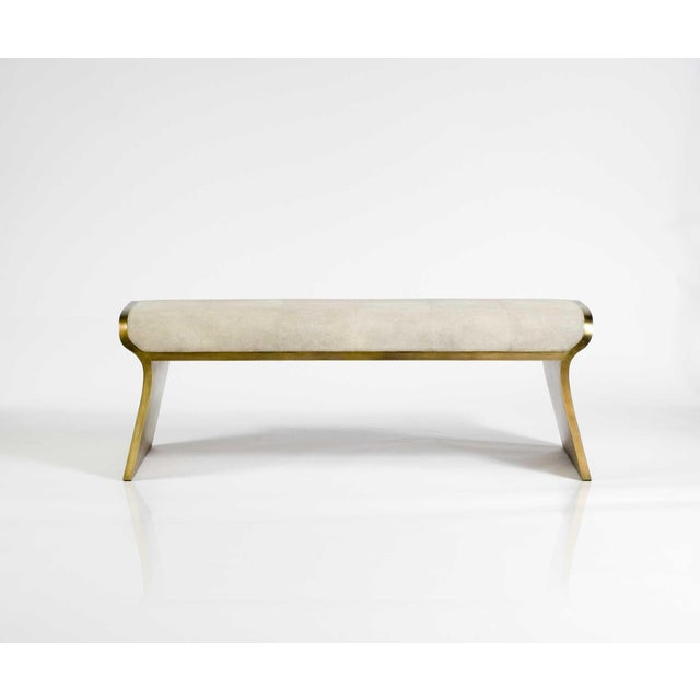 The Dandy day bench is the ultimate luxury seating. The seating area is inlaid in cream shagreen and the frame and sides...