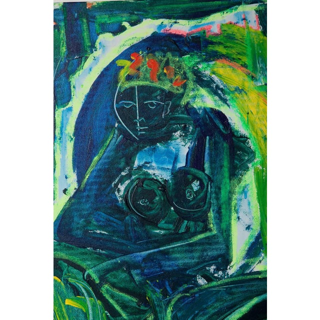 Abstract Untitled Abstract Nude Painting by Neith Nevelson For Sale - Image 3 of 11