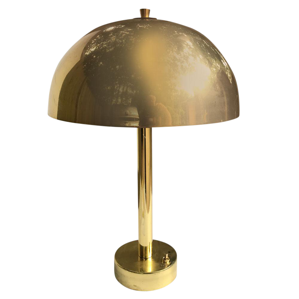 1970s Vintage Brass Dome Lamp
