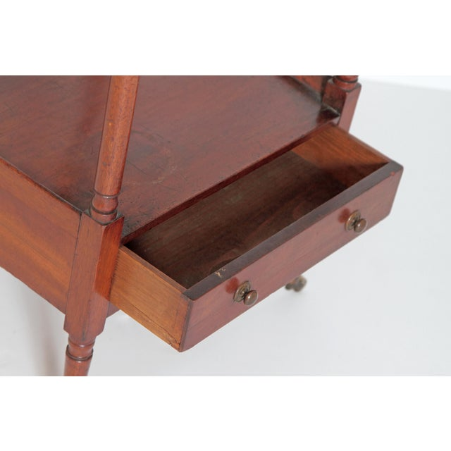 Gold George III Four-Tier Mahogany Whatnot With Drawer For Sale - Image 8 of 13