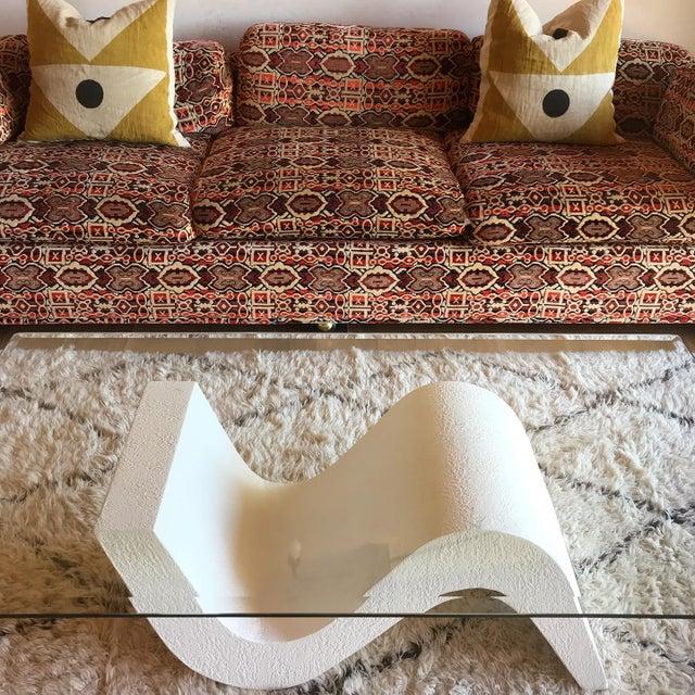 Vintage Post Modern Sculptural Plaster Wave Coffee Table For Sale - Image 11 of 12