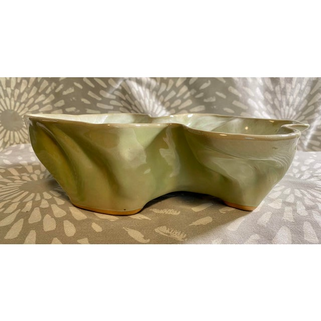 1960s Vintage Hammat Mid-Century Pastel Green Glazed Pottery For Sale - Image 5 of 9
