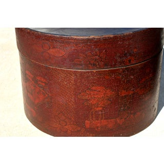 19th Century Chinese Round Hand-Painted Hat Boxes - a Pair Preview